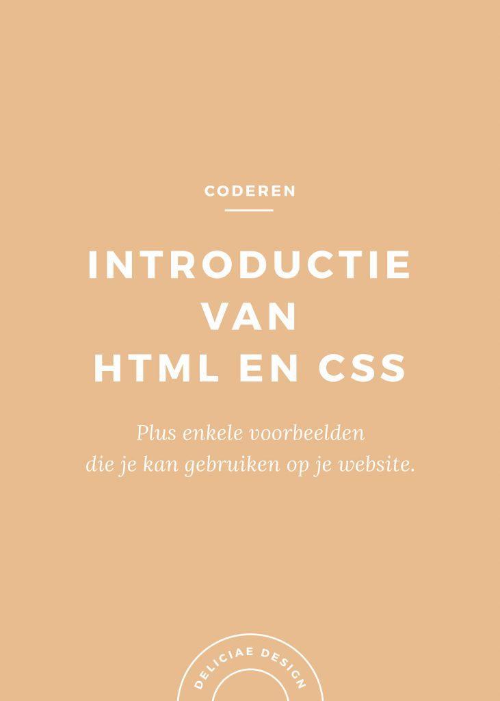 Introductie van HTML en Styling