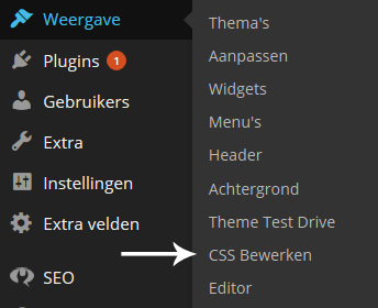 Wordpress CSS Bewerker