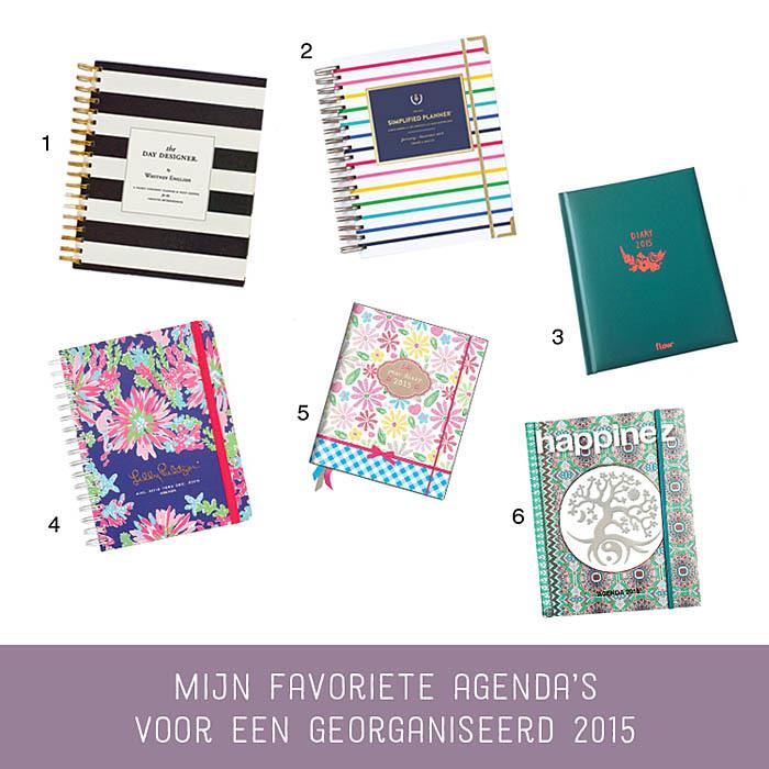 favoriete agenda's voor een georganiseerd 2015