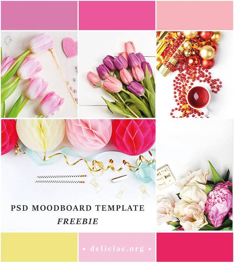 Freebie Time: PSD Moodboard Template