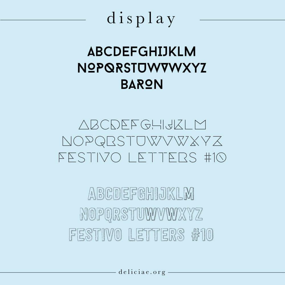 display-lettertypes