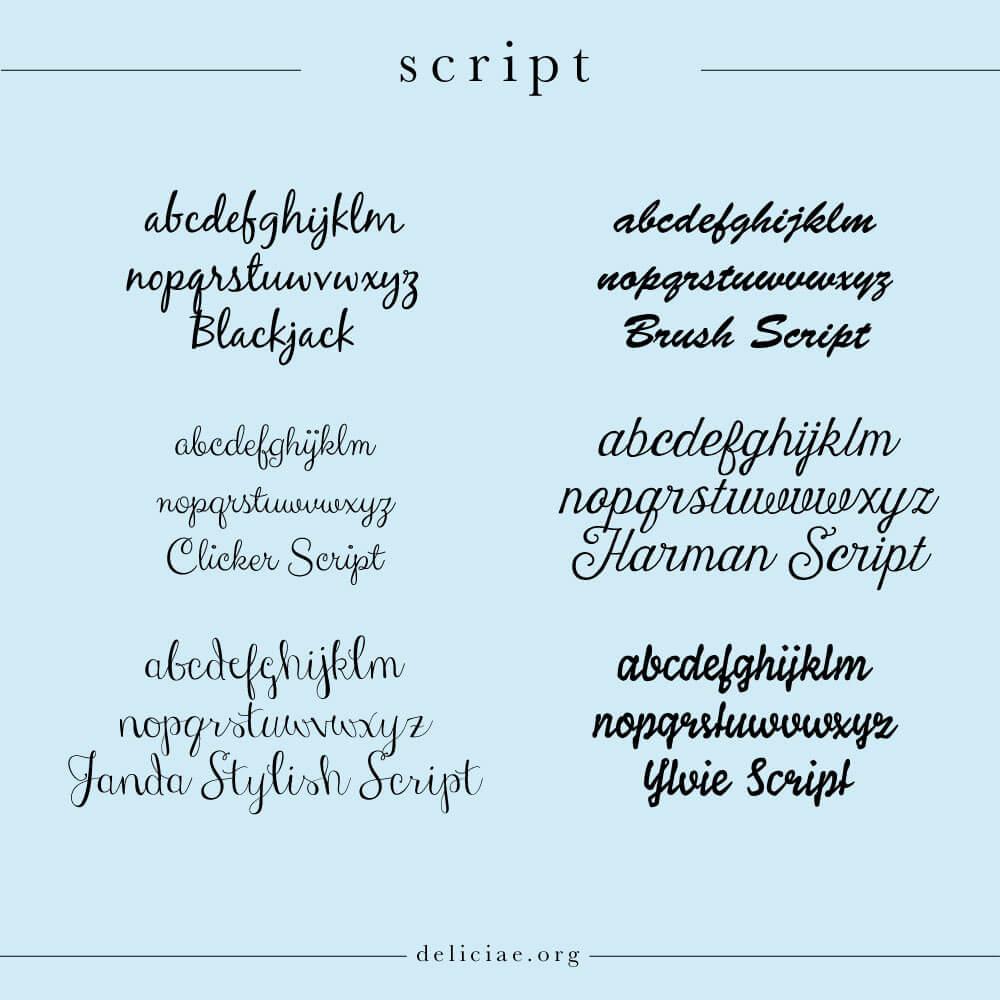 script-lettertypes