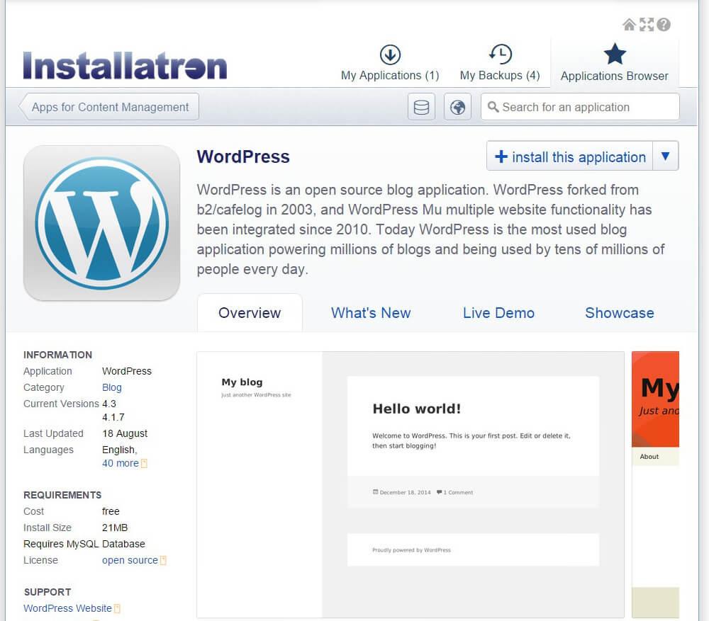 installatron-wordpress-install