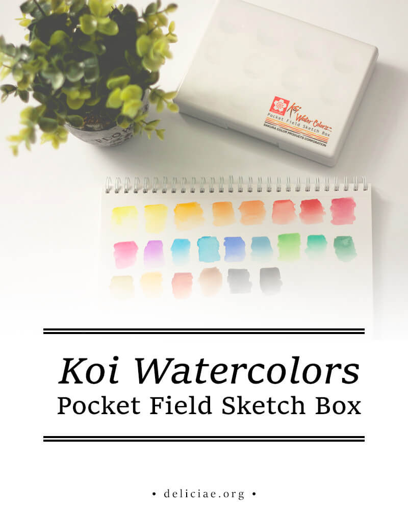 Koi Watercolors Pocket Field Sketch Box