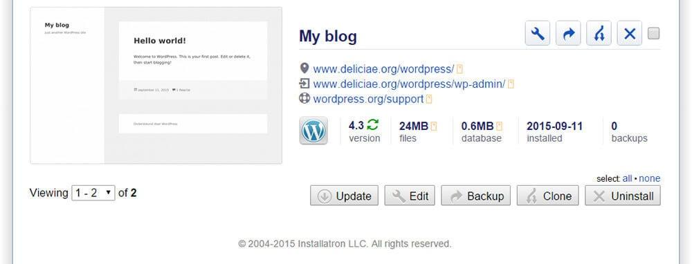 wordpress-installatie-installatron
