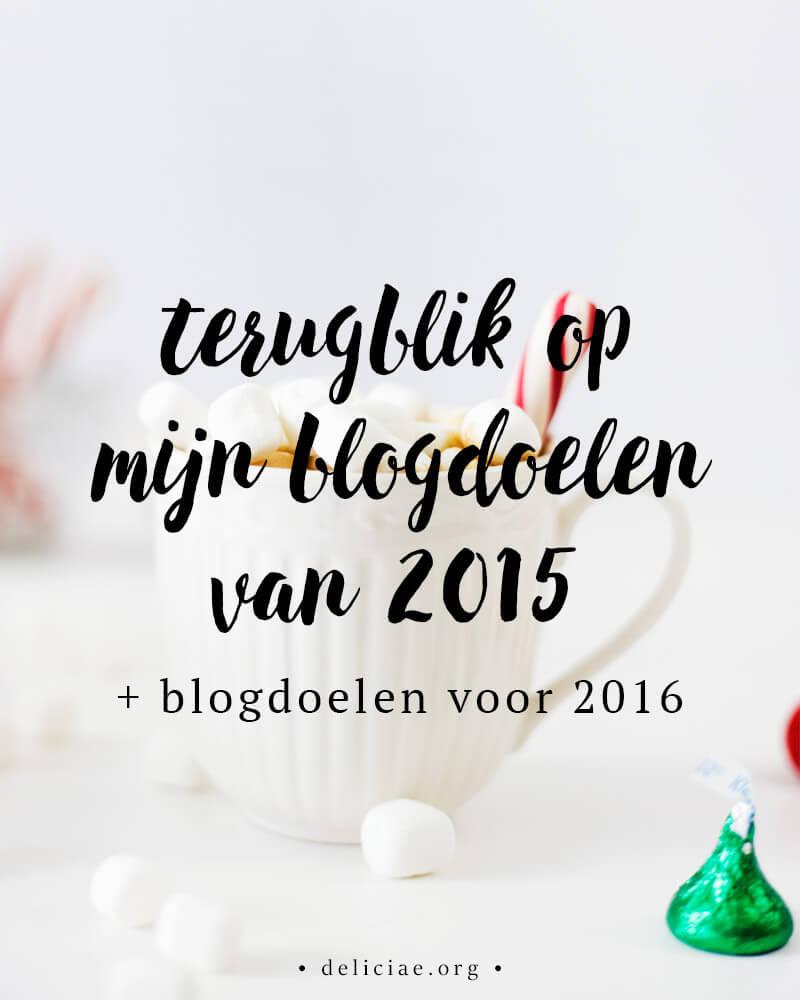Terugblik op blogdoelen van 2015