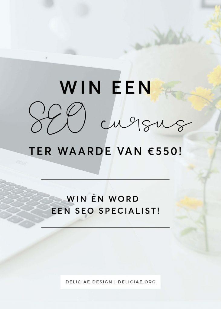 Win een cursus zoekmachine optimalisatie (SEO) ter waarde van €550!