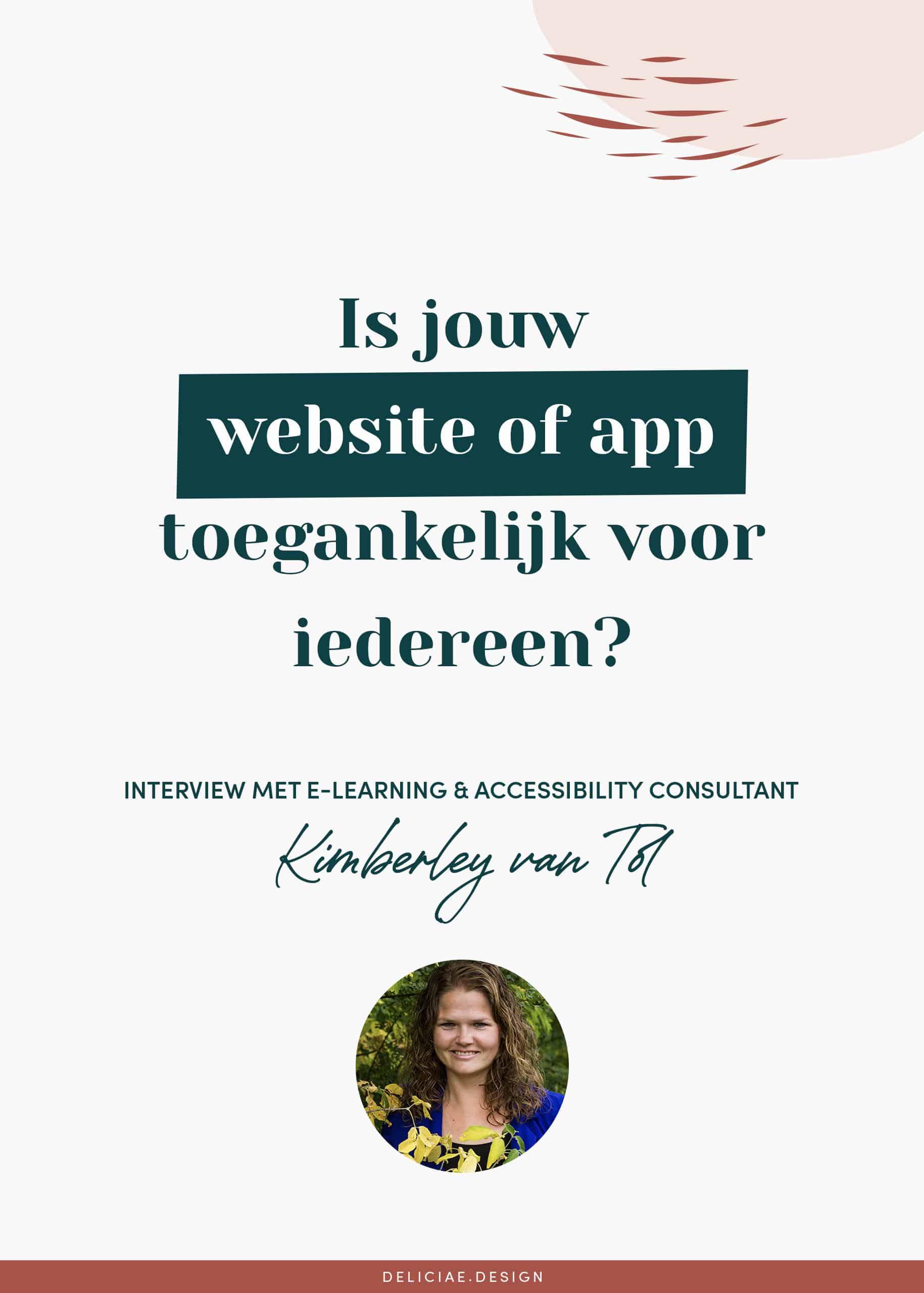Is jouw website of app toegankelijk voor iedereen?